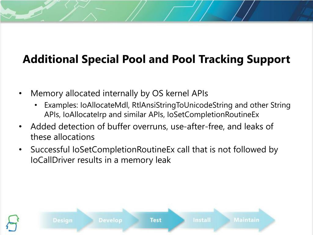 Additional Special Pool and Pool Tracking Support