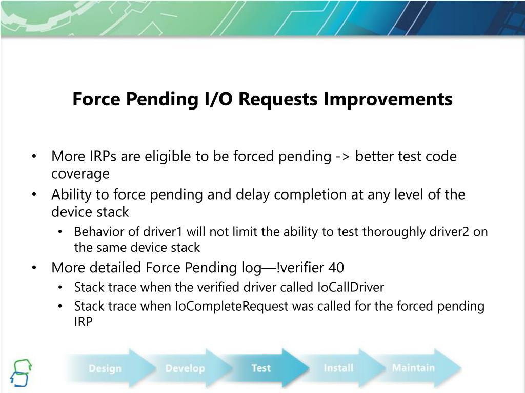 Force Pending I/O Requests Improvements