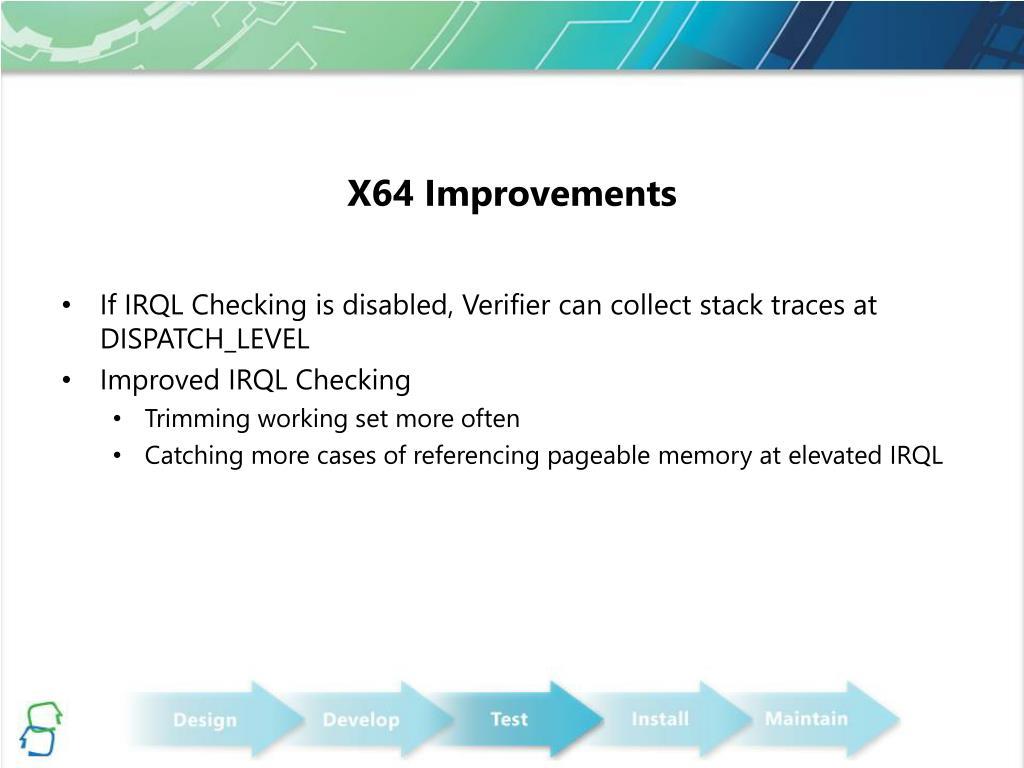 X64 Improvements