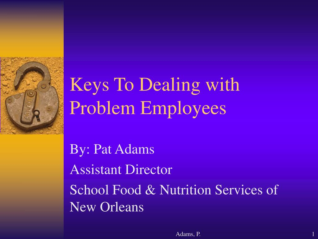 keys to dealing with problem employees