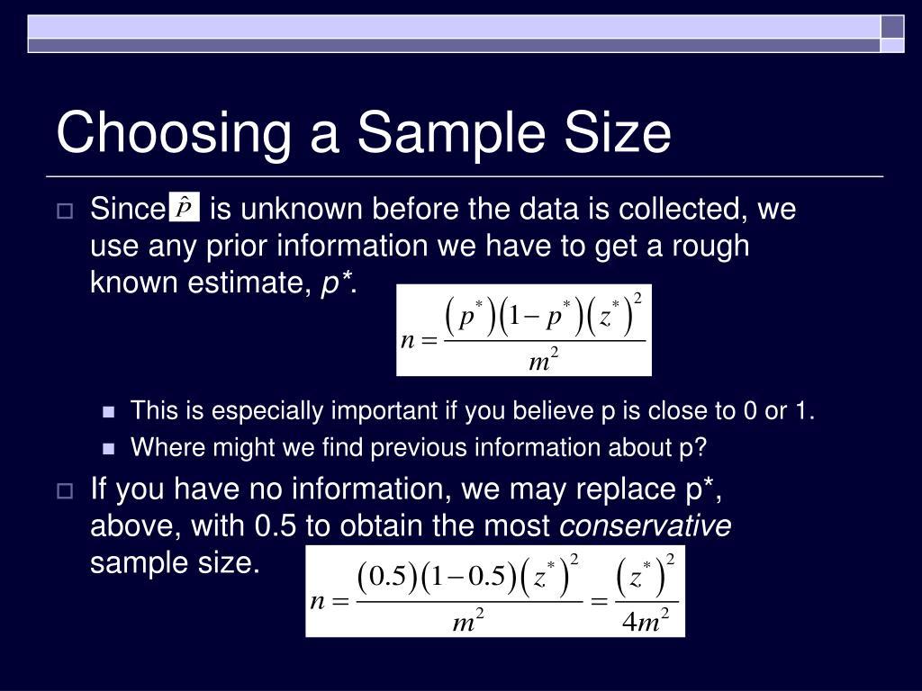 Choosing a Sample Size