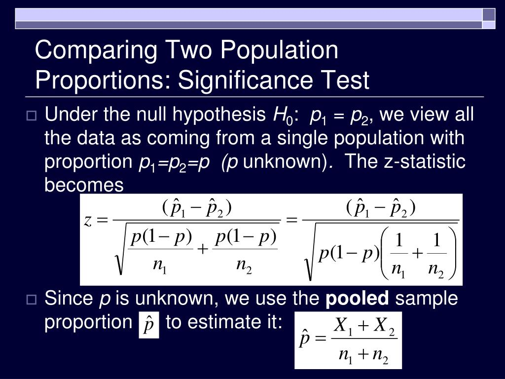 Comparing Two Population Proportions: Significance Test