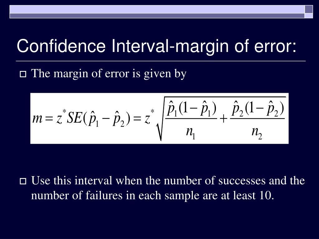 Confidence Interval-margin of error: