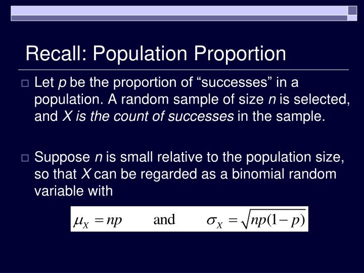 Recall population proportion