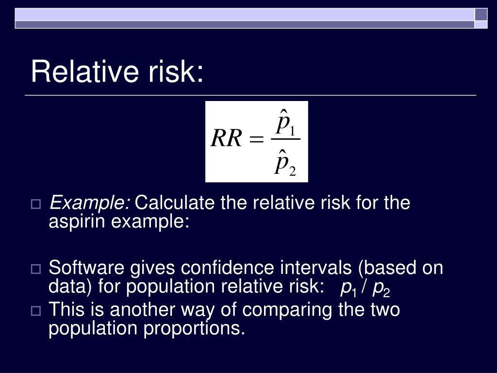 Relative risk: