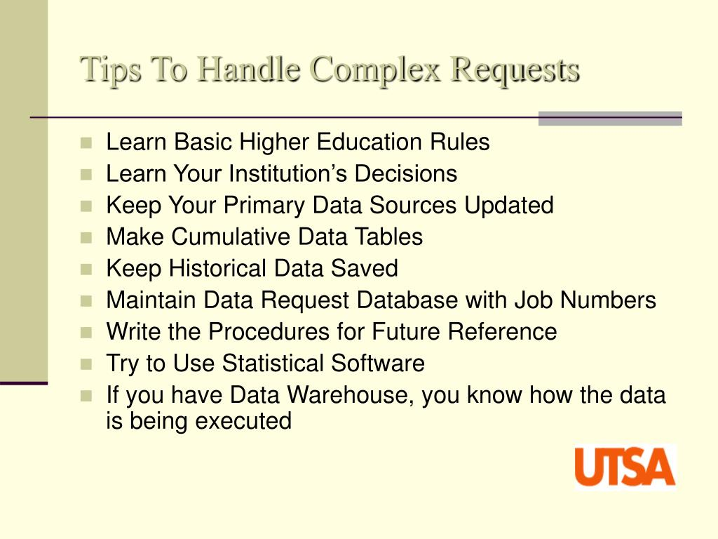 Tips To Handle Complex Requests