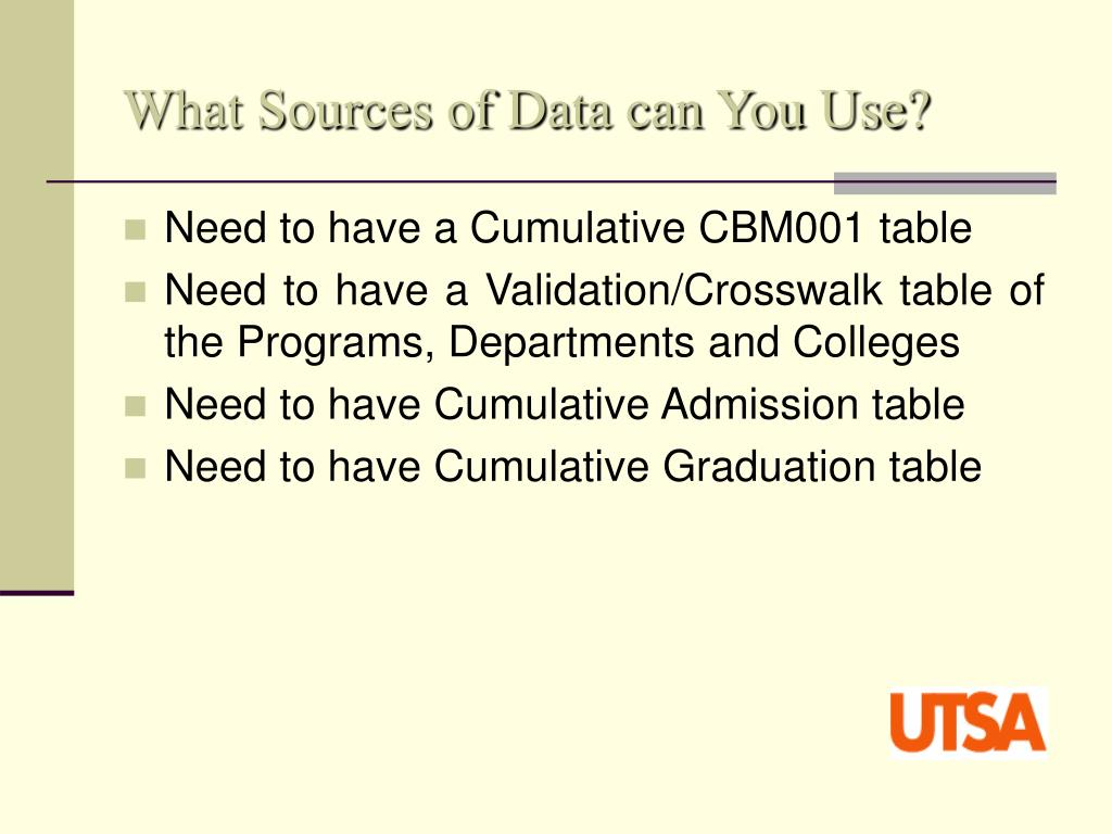 What Sources of Data can You Use?