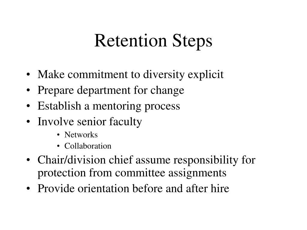 Retention Steps