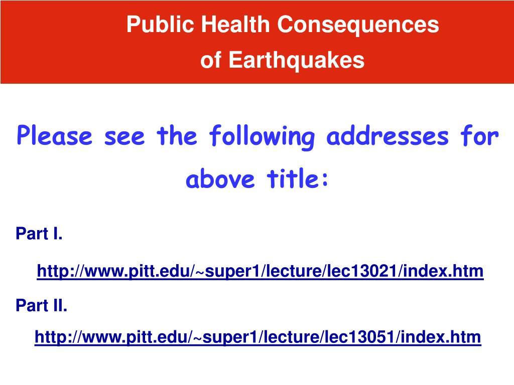 Public Health Consequences