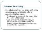 citation searching