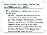 electronic journals bulletins and discussion lists