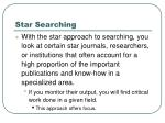 star searching
