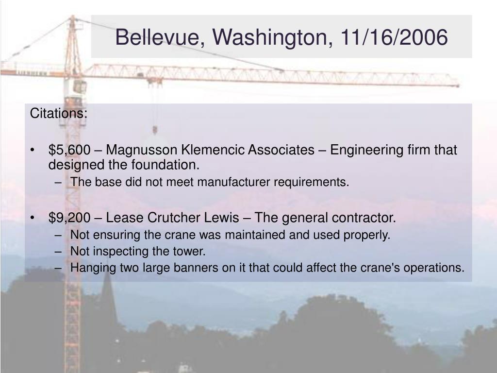 Bellevue, Washington, 11/16/2006