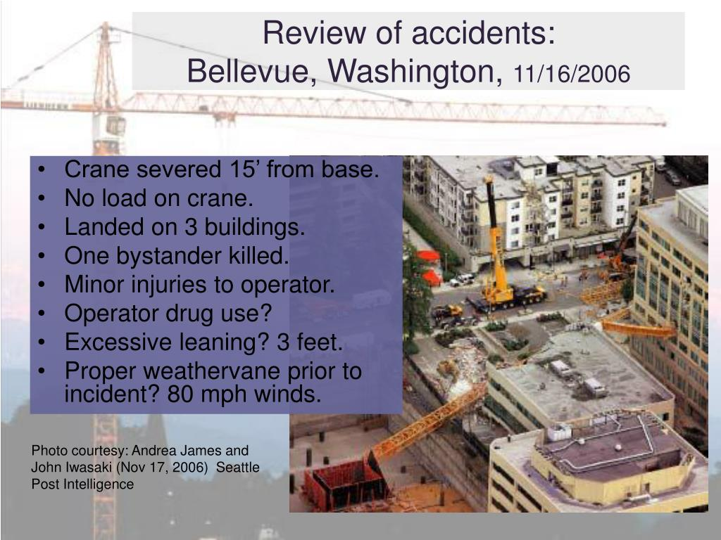 Review of accidents: