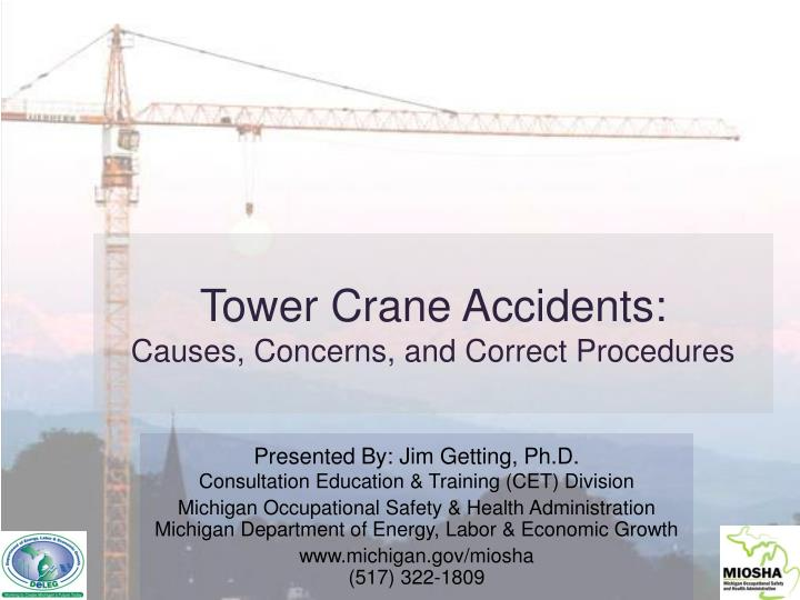 Tower crane accidents causes concerns and correct procedures