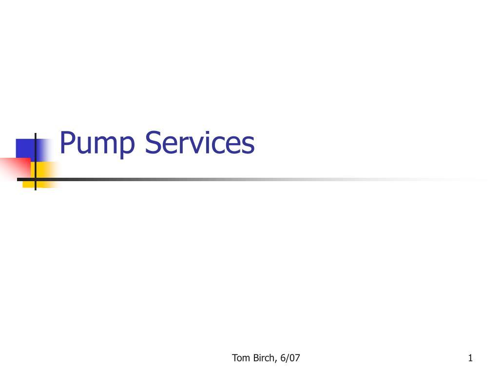 pump services l.