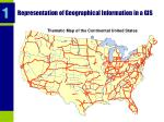 representation of geographical information in a gis
