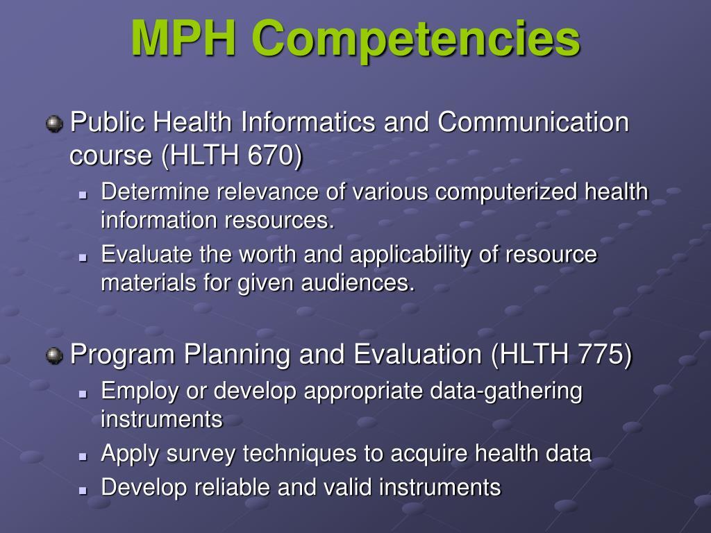 MPH Competencies