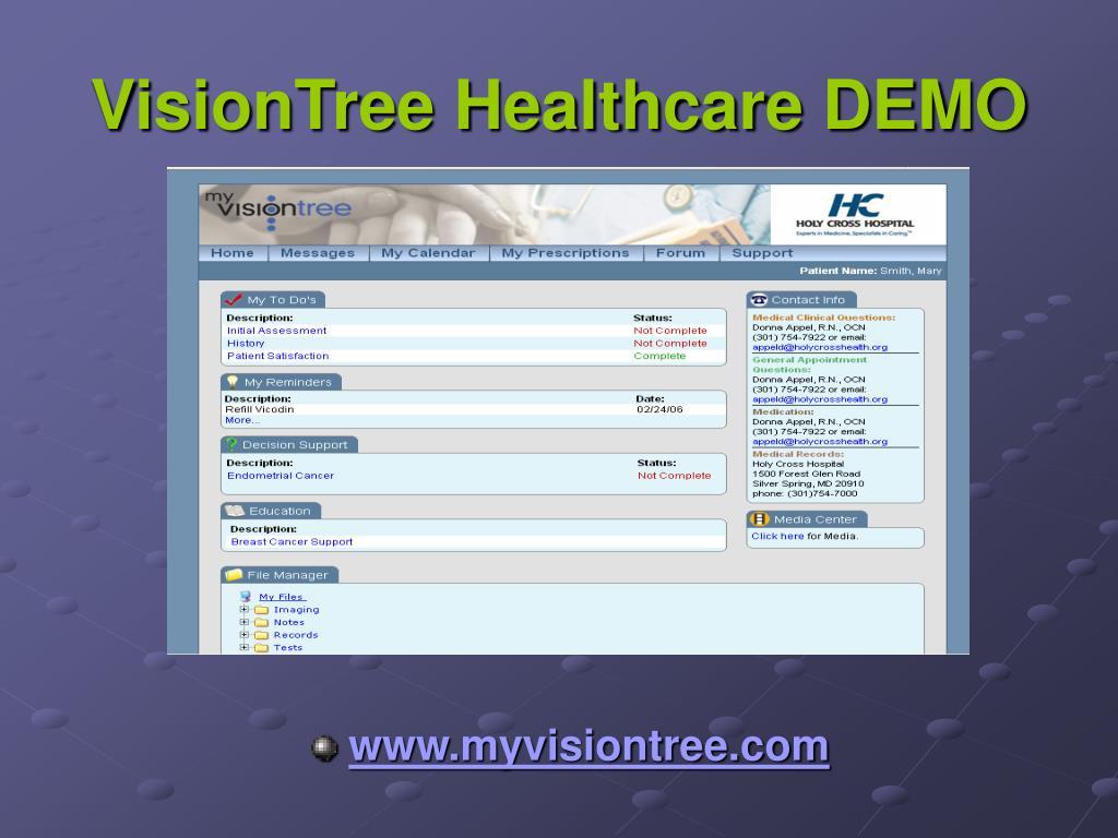 VisionTree Healthcare DEMO