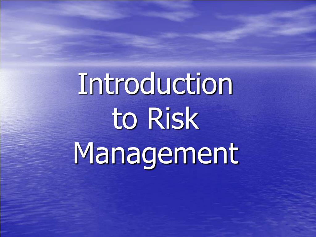introduction to risk management l.