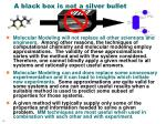a black box is not a silver bullet