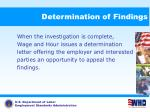 determination of findings62