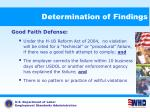 determination of findings66