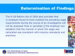 determination of findings67