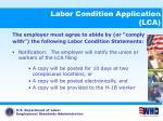 labor condition application lca12