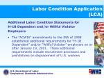 labor condition application lca13
