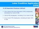 labor condition application lca15