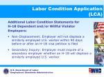 labor condition application lca17