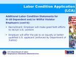 labor condition application lca18