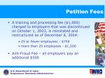 petition fees