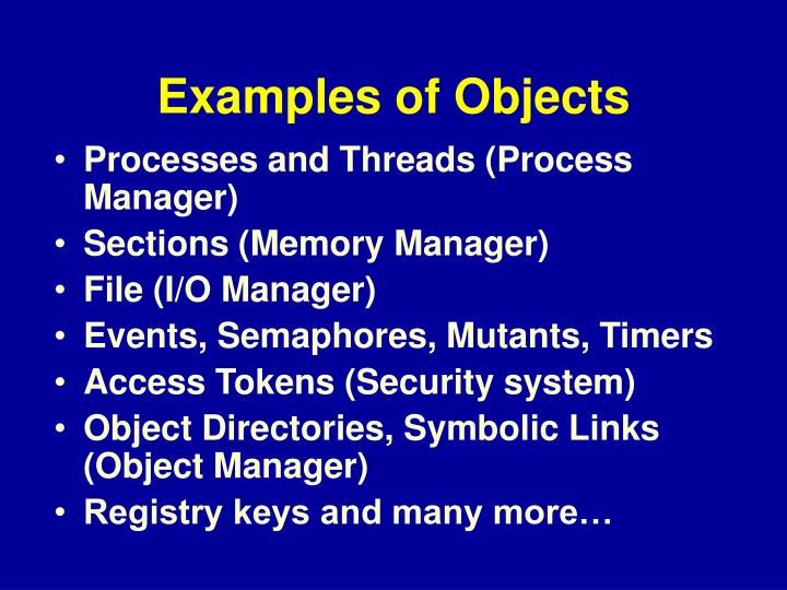 Examples of Objects