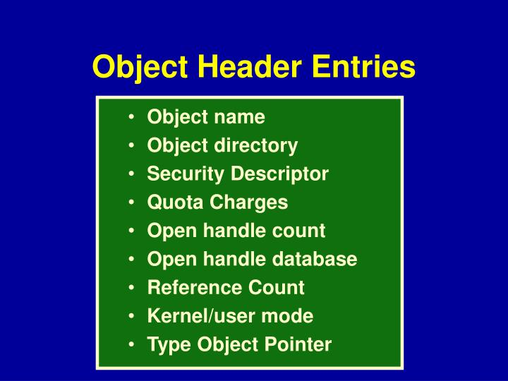 Object name