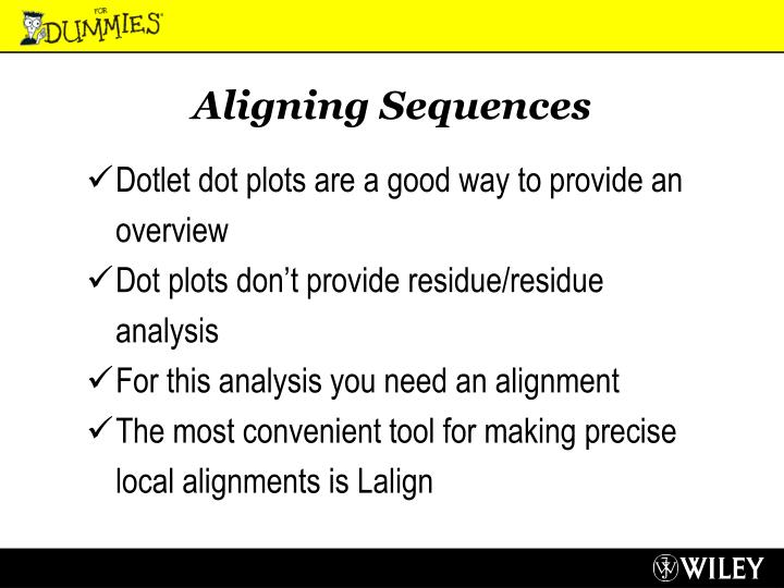 Aligning Sequences