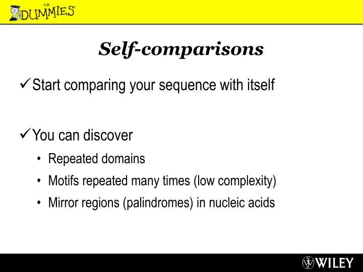 Self-comparisons