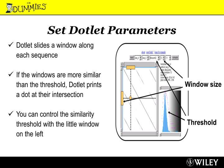 Set Dotlet Parameters