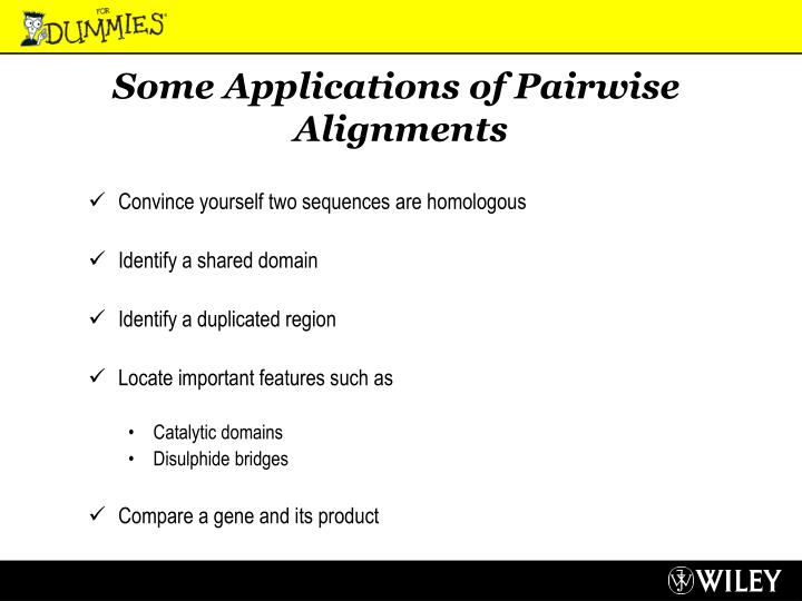 Some Applications of Pairwise