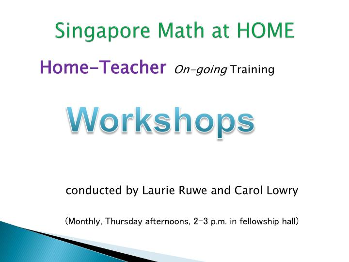 Singapore Math at HOME