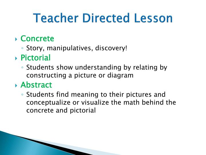 Teacher Directed Lesson