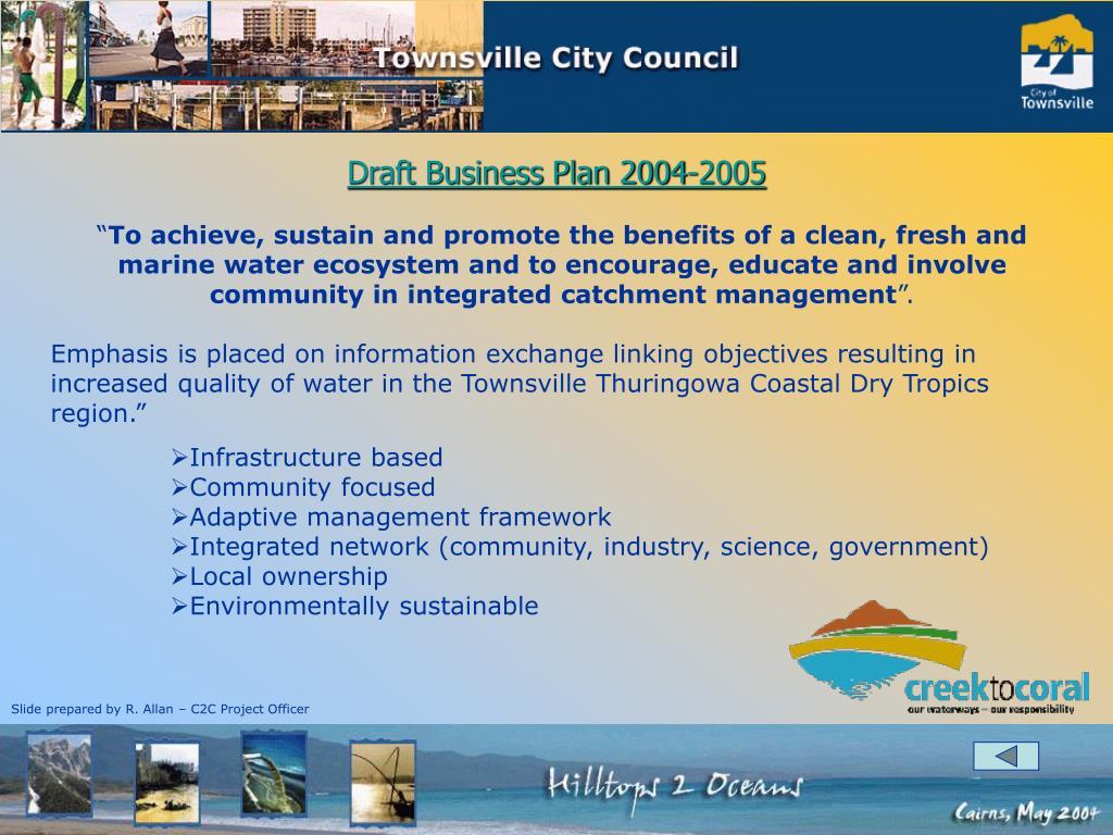 Draft Business Plan 2004-2005