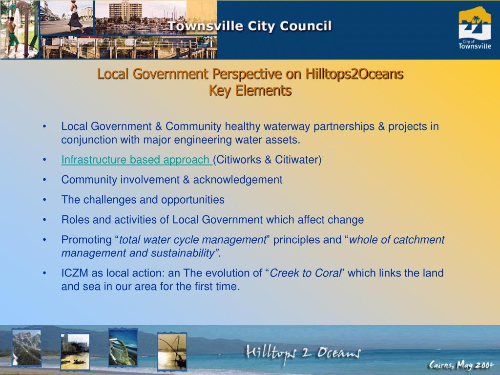 Local Government Perspective on Hilltops2Oceans
