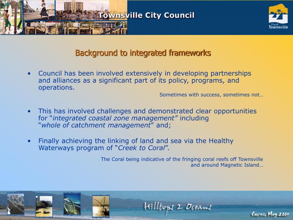 Background to integrated frameworks