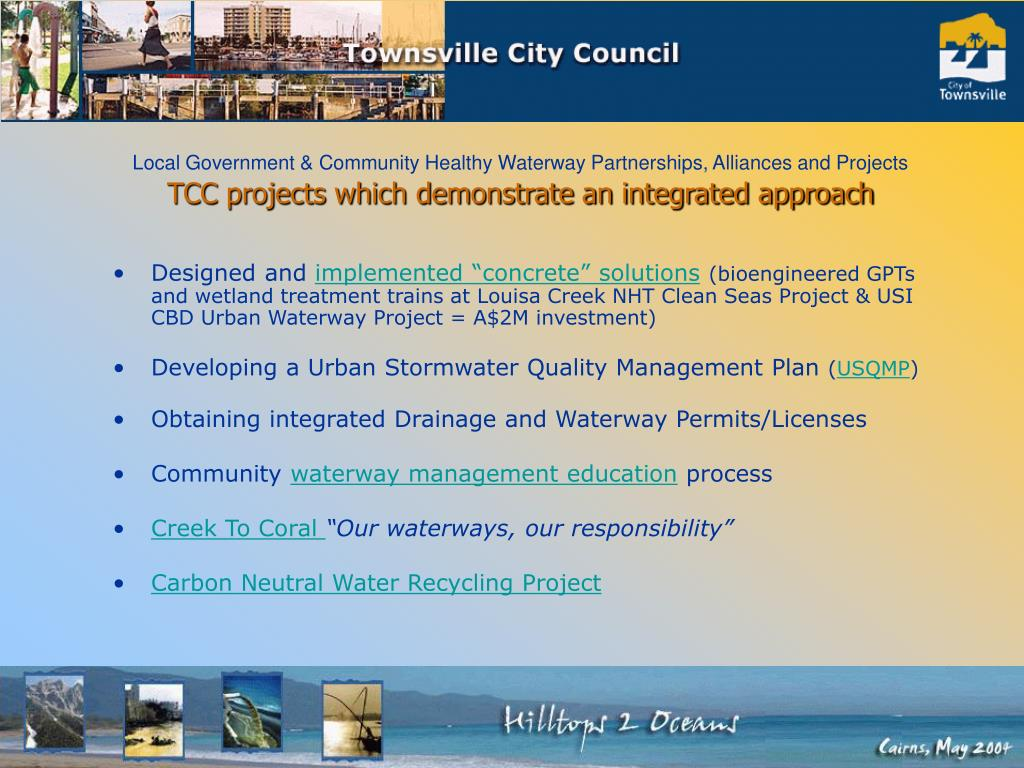 TCC projects which demonstrate an integrated approach