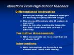 questions from high school teachers9
