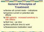 general principles of treatment