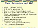 sleep disorders and tbi