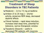 treatment of sleep disorders in tbi patients